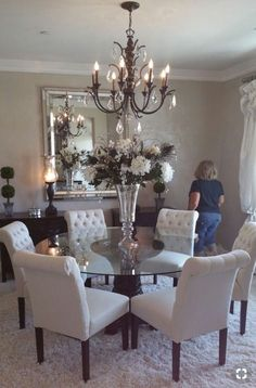 Kitchen Table Redo Dark Table Light Chairs In 2019 Dining Rooms