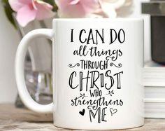 christian mug – Etsy