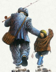 Gone fishing Acrylic on canvas by Alexander Millar. Impressionist Artists, Painter Artist, Artist Painting, Art Addiction, Gone Fishing, Fishing Trips, Whimsical Art, Figure Painting, Painting People