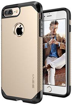 iPhone 7 Plus Case, SGM Premium Hybrid [Dual Layer] Armor...