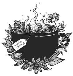 Hexengebräu-Illustration - Paganism, Wicca & other mysteries ☾ - halloween art Kritzelei Tattoo, Illustration Tattoo, Halloween Illustration, Illustration Inspiration, Witch Tattoo, Witch Art, Witch Aesthetic, Witches Brew, Book Of Shadows