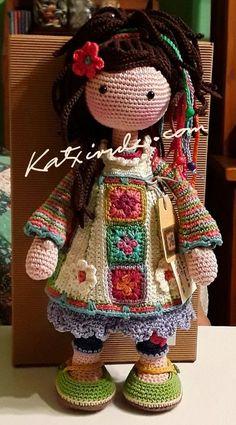 Crochet pattern for doll dawn pdf deutsch english français nederlands español – Artofit What an impressive and inspiring crocheted artwork! Awww this crochet doll would make a lovely gift for a little girl needing a companion to cuddle. Best Crochet A Crochet Doll Pattern, Easy Crochet Patterns, Amigurumi Patterns, Amigurumi Doll, Doll Patterns, Amigurumi Tutorial, Crochet Ideas, Cute Crochet, Crochet Crafts