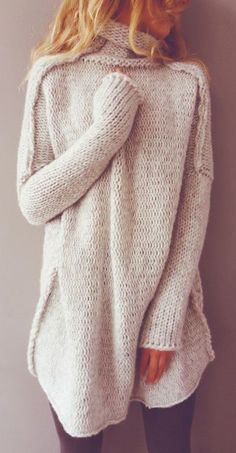 #winter #fashion / gray knit
