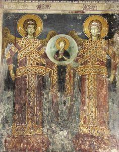 Tempera, Fresco, Order Of Angels, Church Icon, Byzantine Art, Mural Painting, Macedonia, Religious Art, Mosaic