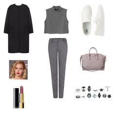 """""""Untitled #2"""" by afnan4 ❤ liked on Polyvore featuring Uniqlo, Monki, Non, Pink Tartan, Givenchy and Chanel"""