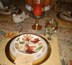 My fall tablescape.