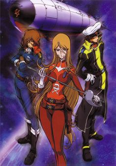 cosmo warrior zero | capitan harlock ] queen emeraldas