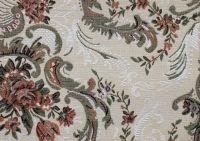 Hurtownia,alaAlkantara,tkaniny tapicerskie,materiały tapicerskie - BELWEDER MEDALIONBIALY TKANINA ANGIELSKA ANTYCZNA