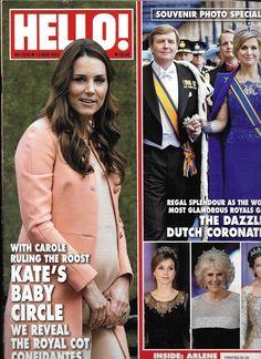 Hello magazine Kate Middleton Dutch coronation Arlene Phillips Caro Emerald
