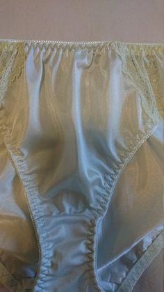 NOS Pretty Vintage Mint Brocade Silk Lingerie Set