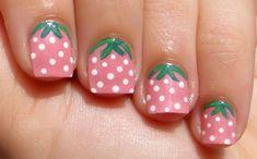 strawberry nails short Easy Nail designs for short nails