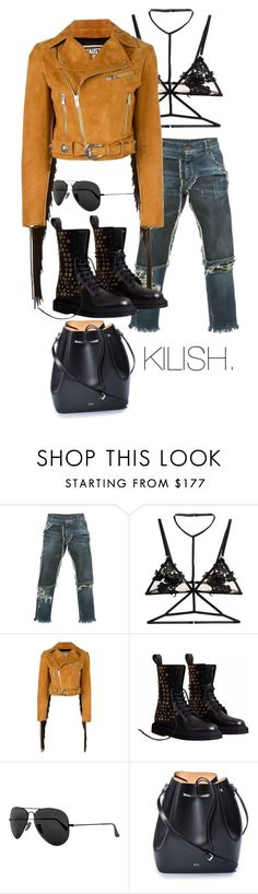 """Open Mic night & drinks"" by fashion-junki on Polyvore featuring Dolce&Gabbana, For Love & Lemons, FAUSTO PUGLISI, Burberry, Ray-Ban and N°21"