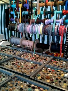Love this ribbon and button display at the Turkish Market in Berlin.