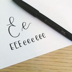 And today's letter is E. Unless I'm confused & off, which is possible. E is one of my favorite letters to write, so I like this one! There are so many variations of E! Best Brush Pens, Confused, Like Me, Letters, Abcs, Writing, This Or That Questions, My Favorite Things, Touch