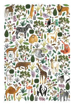 Wild Life - illustration by Bodil Jane