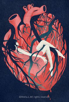 your heart is suffocating you. Suffocated by your feelings.