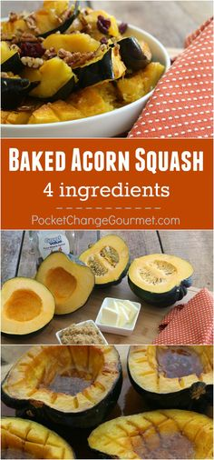 This Fall and holiday favorite is super easy to bake with only 4 ingredients! Perfect as a side dish for Fall or Thanksgiving dinner! Learn how to cook acorn squash!