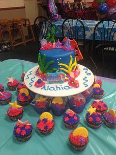 Litter mermaid cake