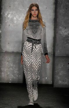 Agave nectar multi radio waves print top, waves print pants and print belt. Marc by Marc Jacobs
