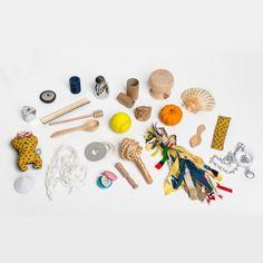 Sensory basket for children- @Katie Fox Craft