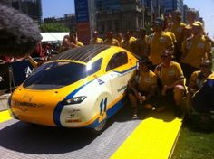 """Hochshule Bochum Solar Car Team's BO GT (Germany). Details in """"Wrapping Up Veolia World Solar Challenge 2011"""" of sunisthefuture.net October 31, 2011 post (just click on image twice to view post, photos and videos)"""