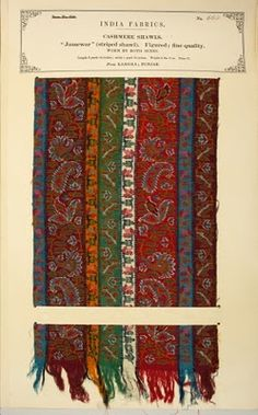 The Textile Manufactures of India is an 18 volume set of fabric sample  books put together 303d24aa32a