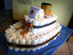 Interstate Navigation Ferry Boat Diaper Cake