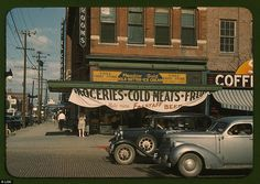 Eagle Fruit Store and Capital Hotel, Lincoln, Nebraska, 1942 / Rarely seen colour photos Small Town America, Lincoln Nebraska, Great Depression, Library Of Congress, What Is Life About, Main Street, In A Heartbeat, Small Towns, Old Photos