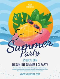 Download the Free Summer Party Flyer Template! - Free Flyer Templates, Free Party Flyer, Free Summer Flyer - #FreeFlyerTemplates, #FreePartyFlyer, #FreeSummerFlyer - #Club, #Dance, #Disco, #DJ, #Event, #Nightclub, #Party, #Pool, #Summer, #Sun, #Water