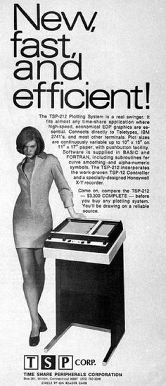 """Not so much """"cringe,"""" as unintentionally funny in how aggressively lazy this attempt to """"sex up""""...whatever this machine is. It's like I can see the copy editor stub out a Winston and wave dismissively through the smoke """"Ahh who give's a shit, these eggheads ain't getting laid anyway.""""    TSP Plotting System."""
