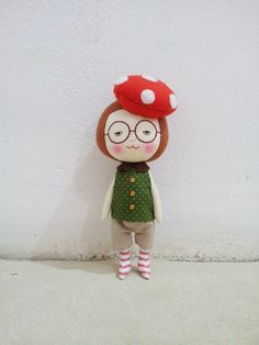 Handmade mushroom hat girl by eechinghandmade available on Etsy