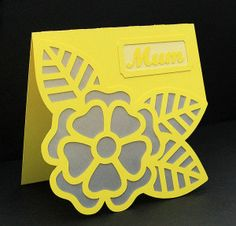 Large Flower Card – 3 ways! Project made with a KNK digital cutting system.