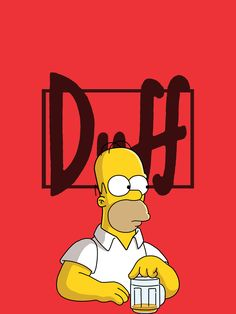 The Simpsons Homer Simpson The Simpsons, Duff Beer, Simpson Wallpaper Iphone, Iphone Wallpapers, Cartoon Wallpaper Iphone, Wallpaper Wallpapers, Disney Wallpaper, Mac Book, Futurama