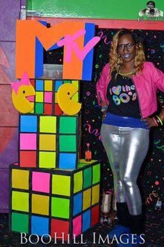 Pinterest: @CandidlyNas Skate Party, Neon Party, Disco Party, Retro Party, 80s Birthday Parties, Birthday Party Themes, 40th Birthday, 80s Party Decorations, Homecoming Floats