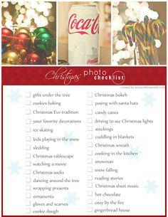 Christmas Photo Checklist
