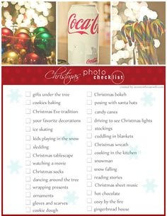 a content housewife: Christmas Photo Checklist