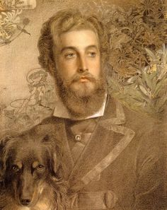 Portrait Of Cyril Flower, Lord Battersea - Frederick Sandys  1872