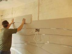 Чешуйчатая  стена  из гипсокартона нестандартное решение дизайна стены