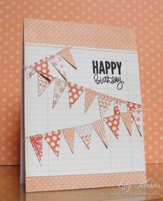 Birthday Bunting by LucyAbrams - Cards and Paper Crafts at Splitcoaststampers