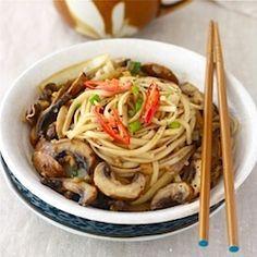 Ramen Noodles with Sautéed Mushrooms