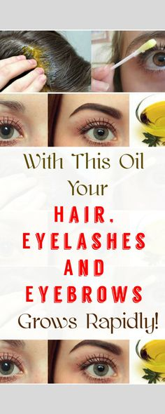 With This Oil Your Hair, Eyelashes And Eyebrows Grows Rapidly.!!