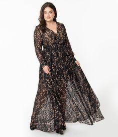 Unique Vintage Plus Size Green & Silver Stars Farrah Maxi Dress Unique Dresses, Elegant Dresses, 70s Fashion, Vintage Fashion, Hijab Fashion, Plus Size Dresses, Plus Size Outfits, Vintage Brand Clothing, Wedding Attire