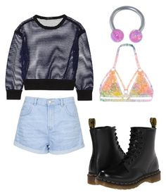 """""""cool"""" by madddgalriri ❤ liked on Polyvore featuring мода, Topshop, UNIF, Ohne Titel и Dr. Martens"""