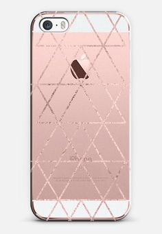 Love Triangle in Rose Gold iPhone SE case by Anneline Sophia | Casetify