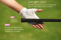 Grip the club in your fingers for easy hinging. Hinge is KEY in the golf swing and it starts with the grip.