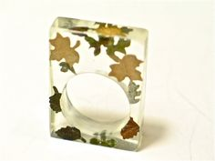 Autumn leaves Resin ring Resin jewelry by GoldFingerBarcelona, $27.00