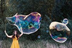 Riesenseifenblasen DIY, riesige Seifenblasen selber machen   Anleitung auf Art & Almonds