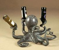 Octopus wine bottle holder