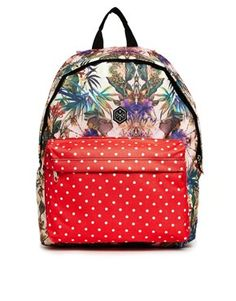 Hype Backpack in Floral and Spot Print