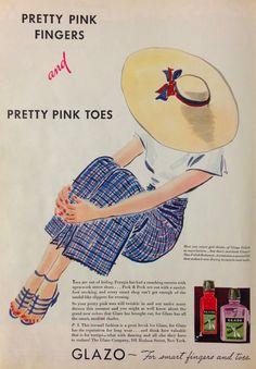 Glazo Nail Polish Ad, 1934
